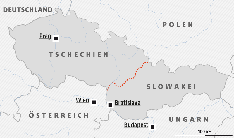 Karte Tschechien.Das Ende Der Tschechoslowakei News Orf At