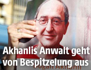 Plakat vom Schriftsteller Dogan Akhanli