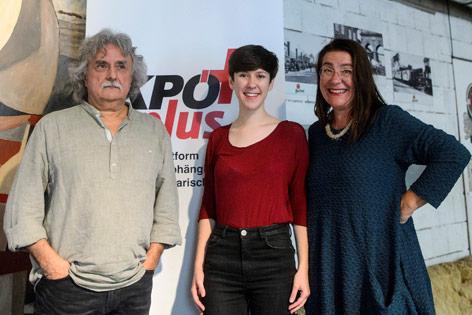 Mirko Messer, Flora Petrik und Ulli Fuchs