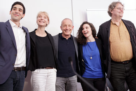 Sebastian Bohrn-Mena, Maria Stern, Peter Pilz, Stephanie Cox und Peter Kolba