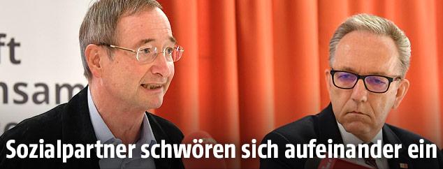 WKÖ-Präsident Christoph Leitl und AK-Präsident Rudi Kaske