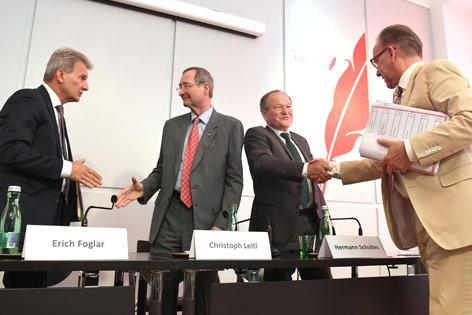 Erich Foglar, Christoph Leitl, Hermann Schultes und Rudolf Kaske