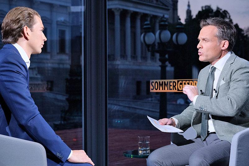 """""""ORF-Sommergespräche"""" mit Außenminister Sebastian Kurz (ÖVP)"""