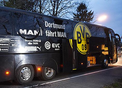 Beschädigter BVB-Bus
