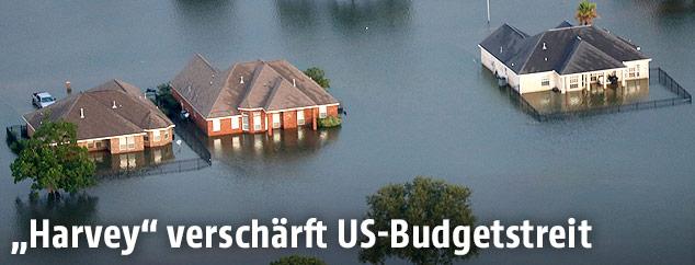 Überflutete Häuser