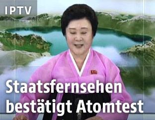 Nordkoreanische Fernsehsprecherin