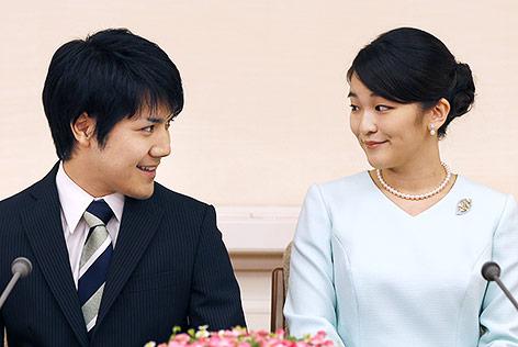 Die japanische Prinzessin Mako und ihr Verlobter Kei Komuro