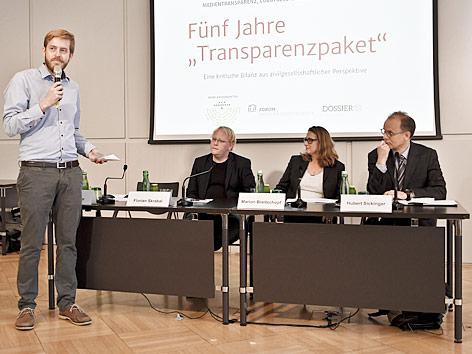 """Pressekonferenz """"Echte Transparenz - Fünf Jahre Transparenzpaket"""" in Wien"""