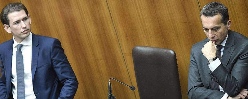 Außenminister Sebastian Kurz (ÖVP) und Bundeskanzler Christian Kern (SPÖ)