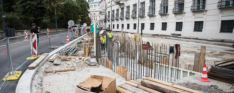 Baustelle auf dem Wiener Ballhausplatz