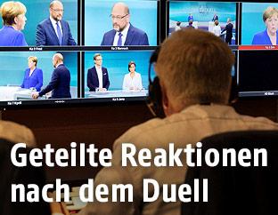 Fernsehübertragung des TV-Duells