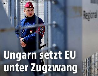 Ungarischer Polizist
