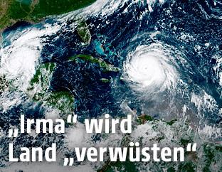 "Satellitenaufnahme von Hurrikan ""Irma"""