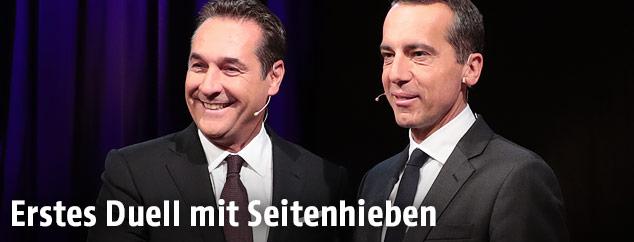 Heinz-Christian Strache und Christian Kern