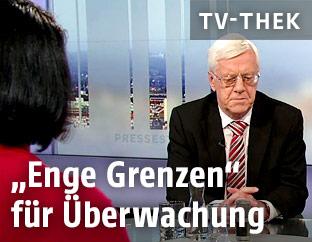 Gerhart Holzinger in der Pressestunde