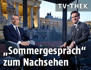 """""""ORF-Sommergespräche"""" mit Bundeskanzler Christian Kern (SPÖ)"""