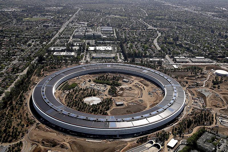 Luftaufnahme des neuen Apple Campus