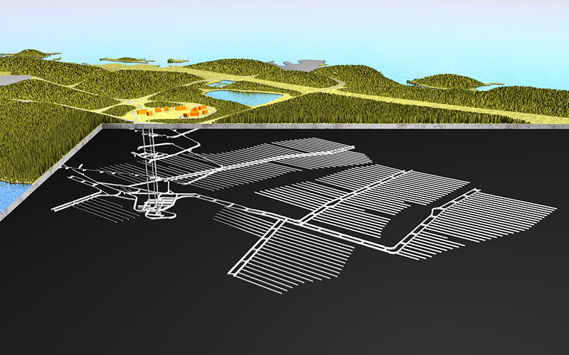 Renering des Atommülllagers Onkalo