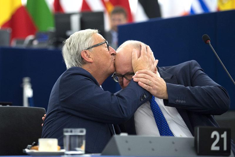 Jean-Claude Juncker und Frans Timmermans