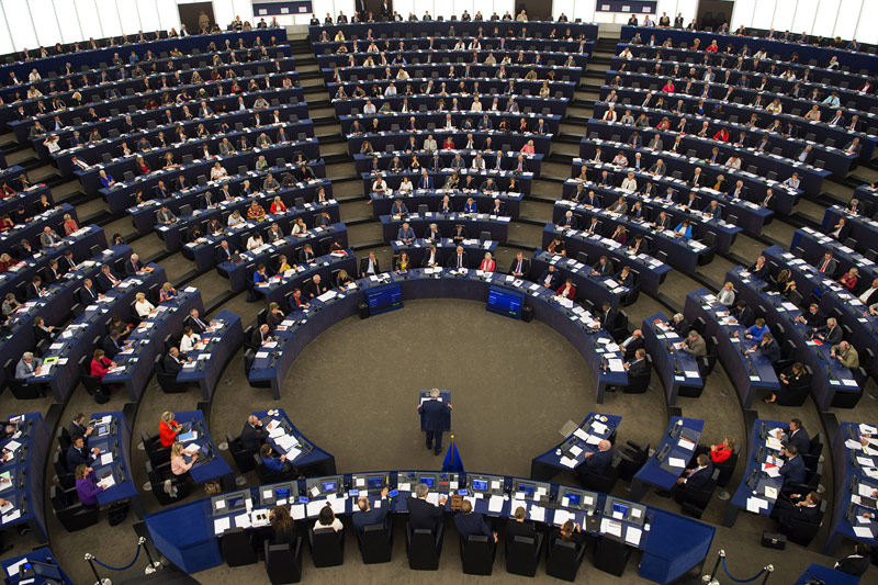 EU-Kommissionspräsident Jean-Claude Juncker im Parlamentsplenum