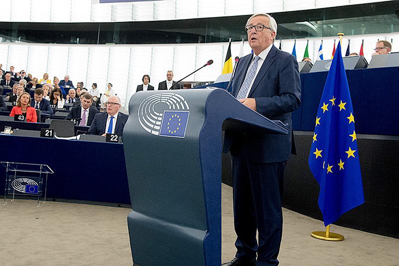 Jean Claude Juncker hält eine Rede