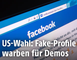 Facebook auf einem Bildschirm