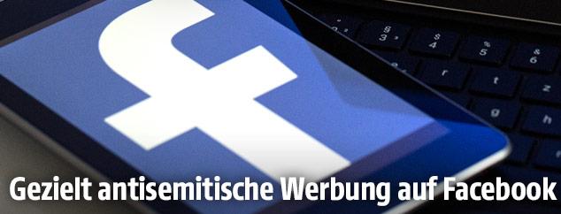Facebook Logo auf einen Tablet