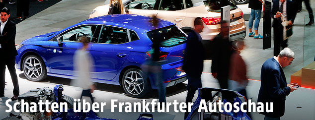 Autos auf der Frankfurter Autoschau