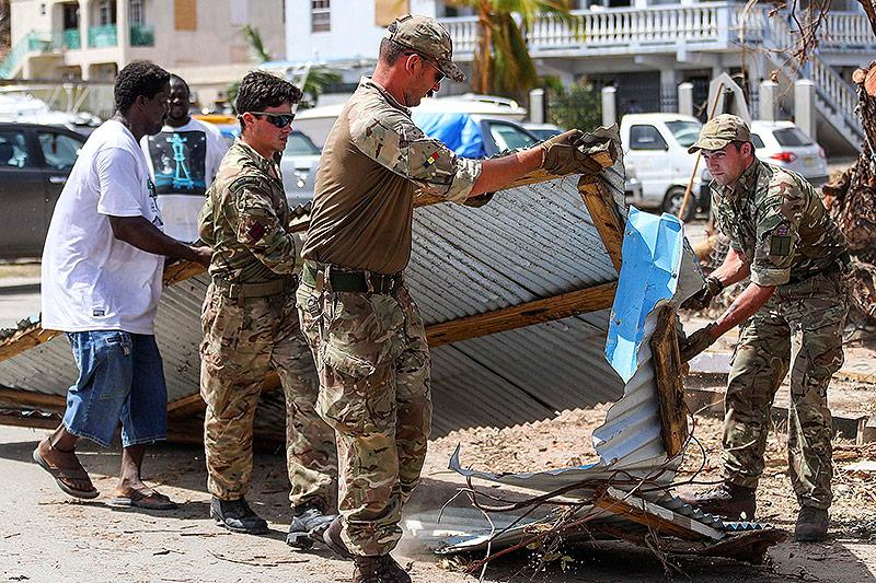 Britische Soldaten in der Karibik