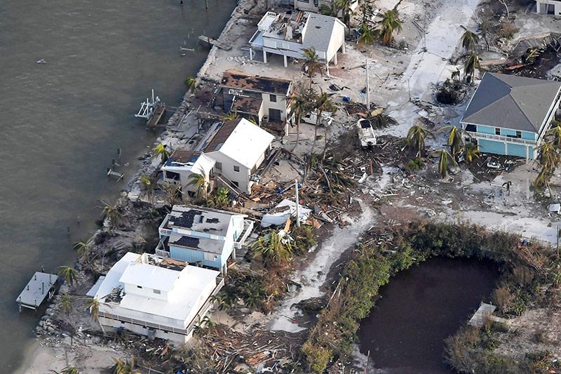 Zerstörte Häuser auf den Florida Keys