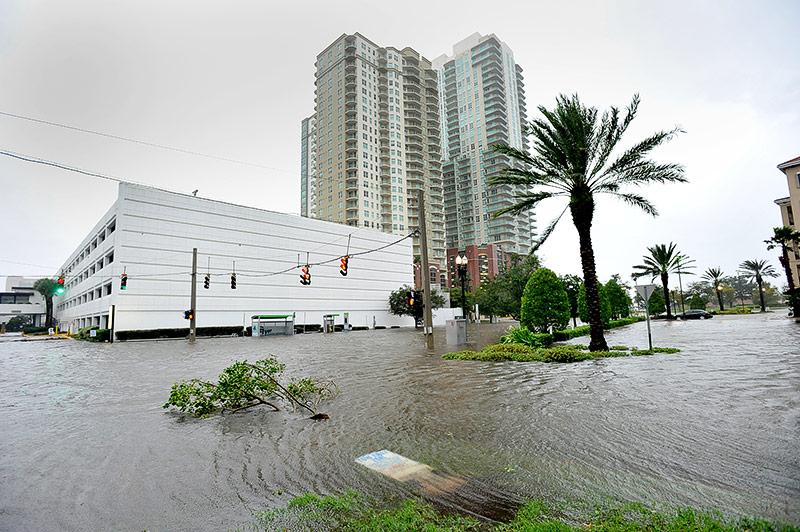 Überflutete Straßen in Jacksonville