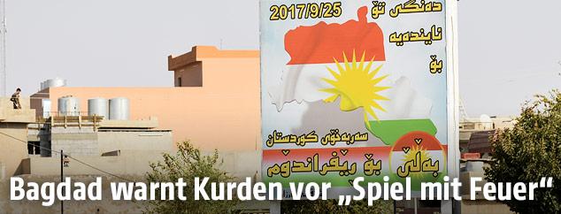 Plakat für das kurdische Unabhängigkeitsreferendum