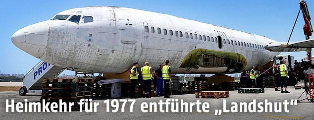 """Die Boeing """"Landshut"""" in Brasilien"""