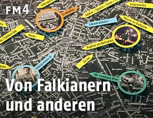 Stadtplan in der Popausstellung