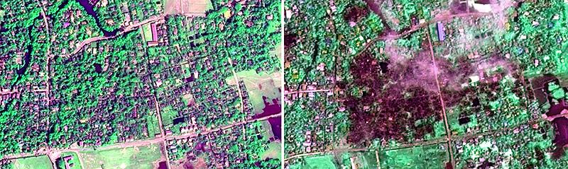 Satelittenbilder zeigen das Ausmaß der Zerstörungen