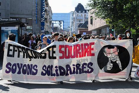 Demonstration in Rennes (Frankreich)