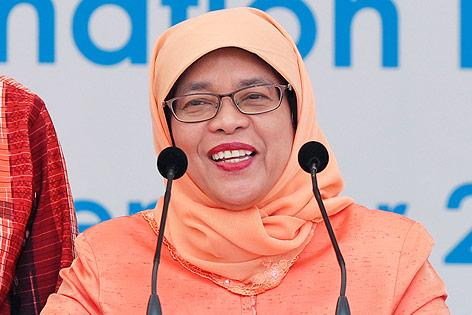 Die designierte Präsidentin von Singapur, Halimah Yacob