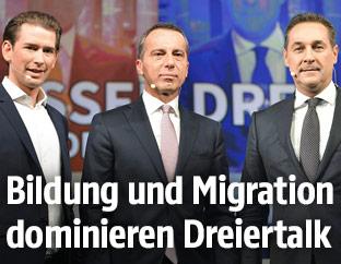 Sebastian Kurz, Christian Kern und Heinz-Christian Strache