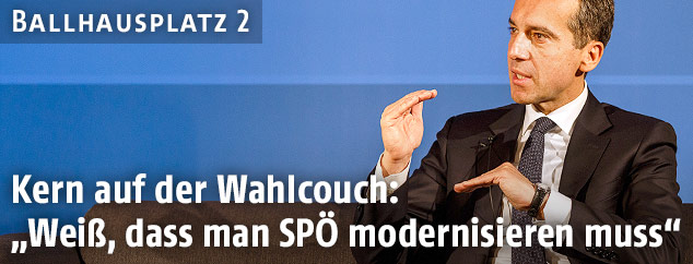 Christian Kern auf der ORF.at-Wahlcouch