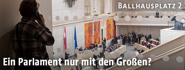 Parlamentarier im Ausweichqartier