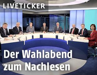 Fernsehrunde der Parteivorsitzenden nach der Bundestagswahl