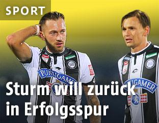 Peter Zulj and Stefan Hierlaender (Sturm)