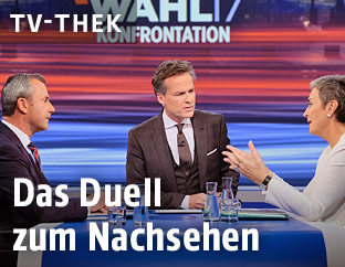 Tarek Leitner, Norbert Hofer (FPÖ) und Ulrike Lunacek (Grüne)