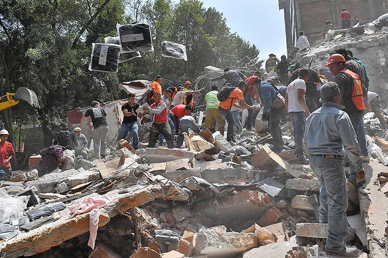Trümmer in Mexiko-Stadt