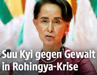 Myanmars De-facto-Regierungschefin Aung San Suu Kyi
