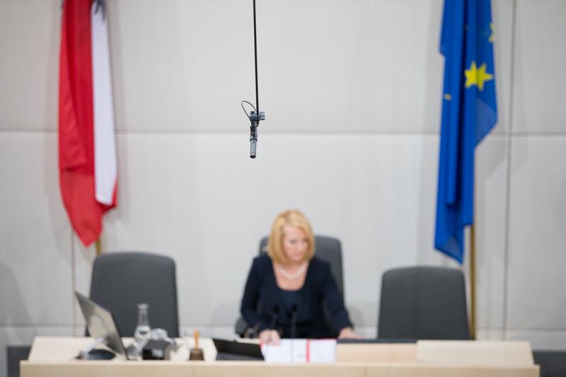 Eindrücke von der ersten Nationalratssitzung im Ausweichquartier