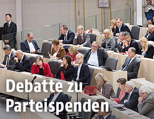 Sitzung im neuen Nationalrat