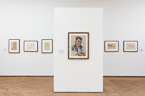 Ausstellungsansicht, Anton Kolig, Leopold Museum Wien