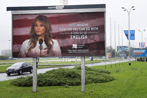 Plakat mit Melania Trump