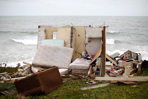 Zerstörtes Haus in Puerto Rico